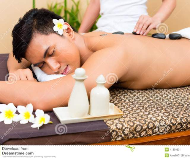 Indonesian Man At Hot Stone Wellness Massage