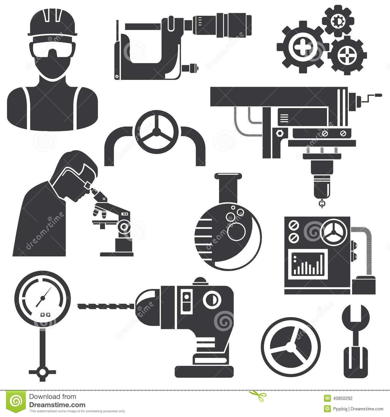 Industrial Engineering Stock Illustration