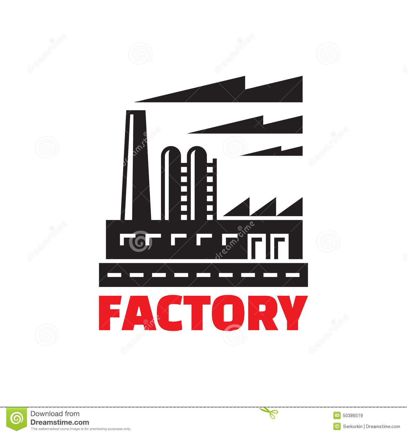 Factory Building Illustration Vector Illustration