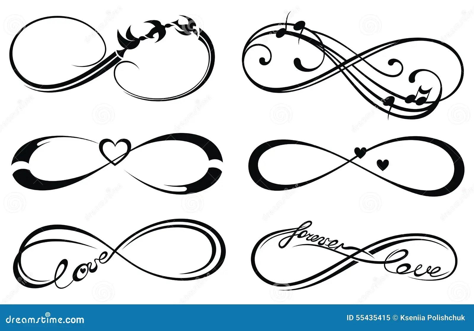 Infinity Love Forever Symbol Stock Vector