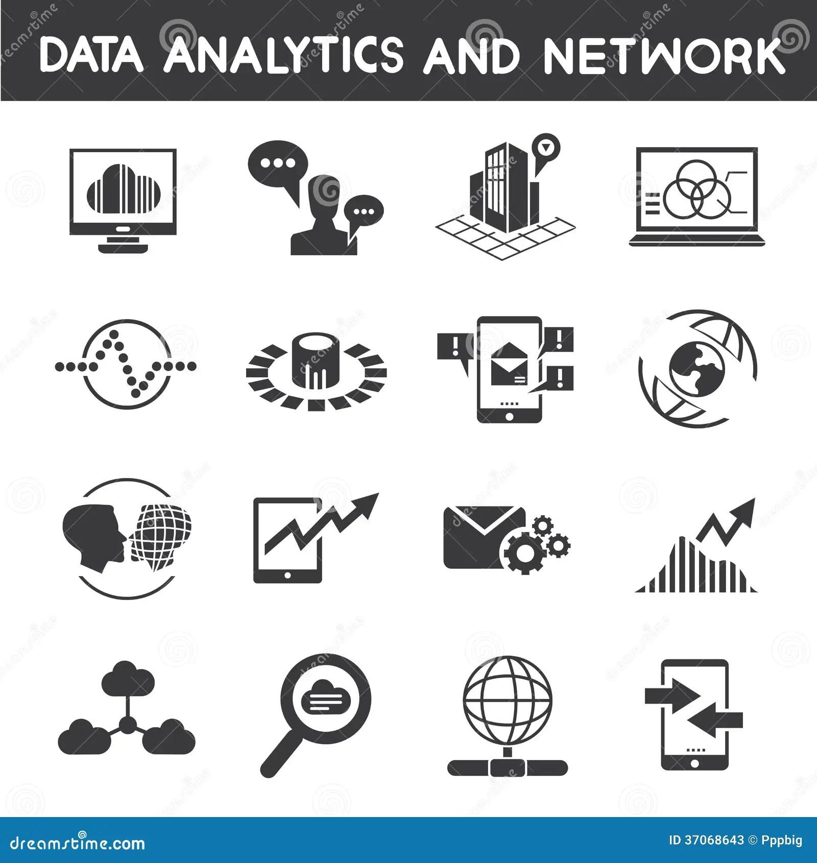 info management dataytic icons stock illustration