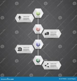 Infographic Concept  Flow Chart Design  Timeline Stock