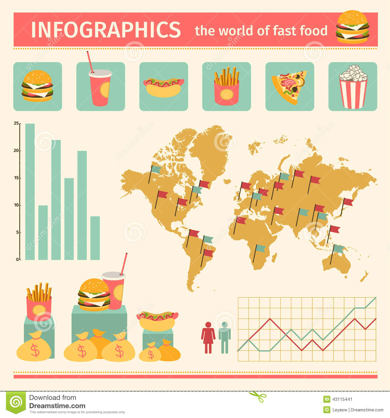 Infographic Consumption Of Fast Food Around The World