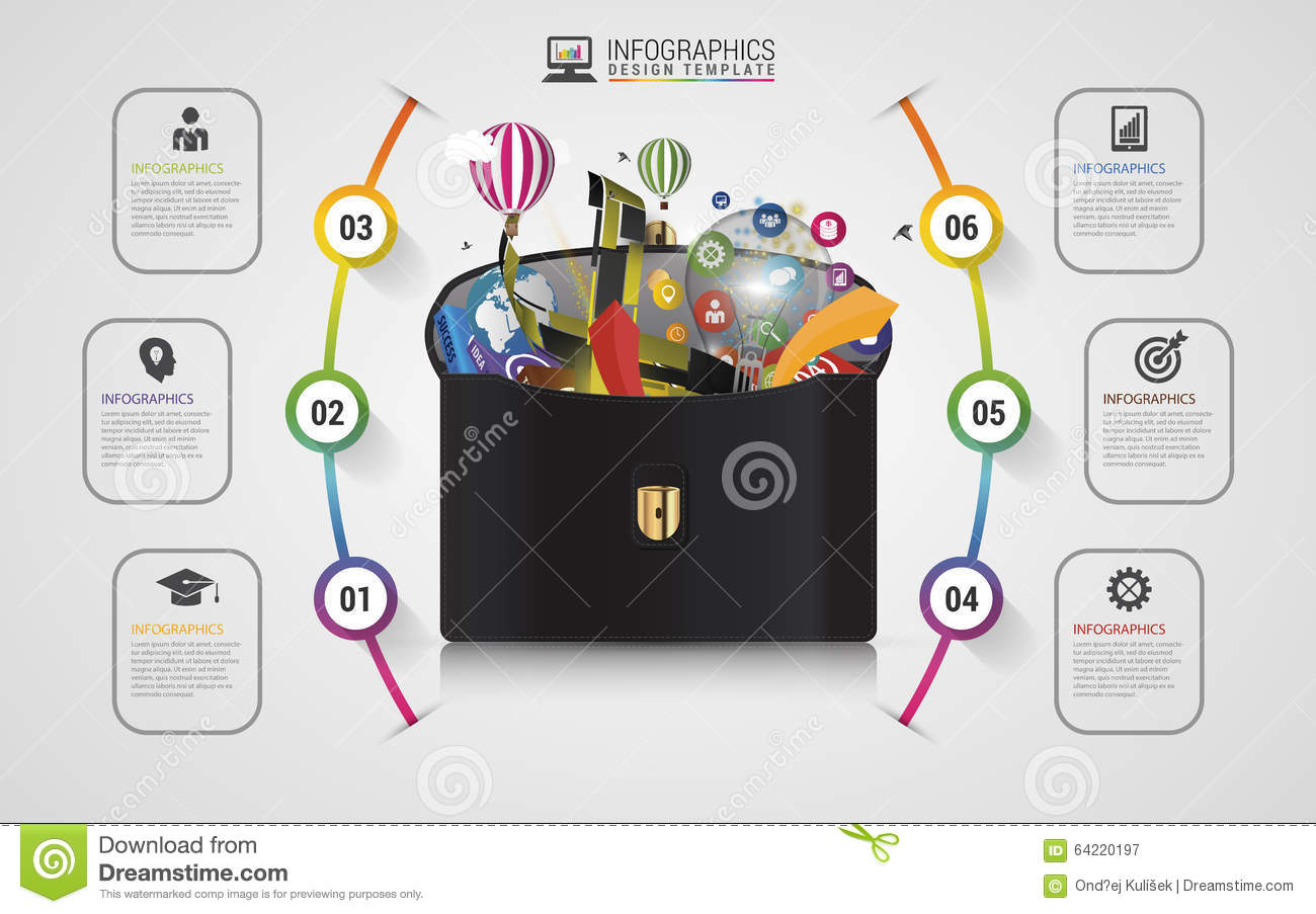 Infographic Design Template Creative Business Case