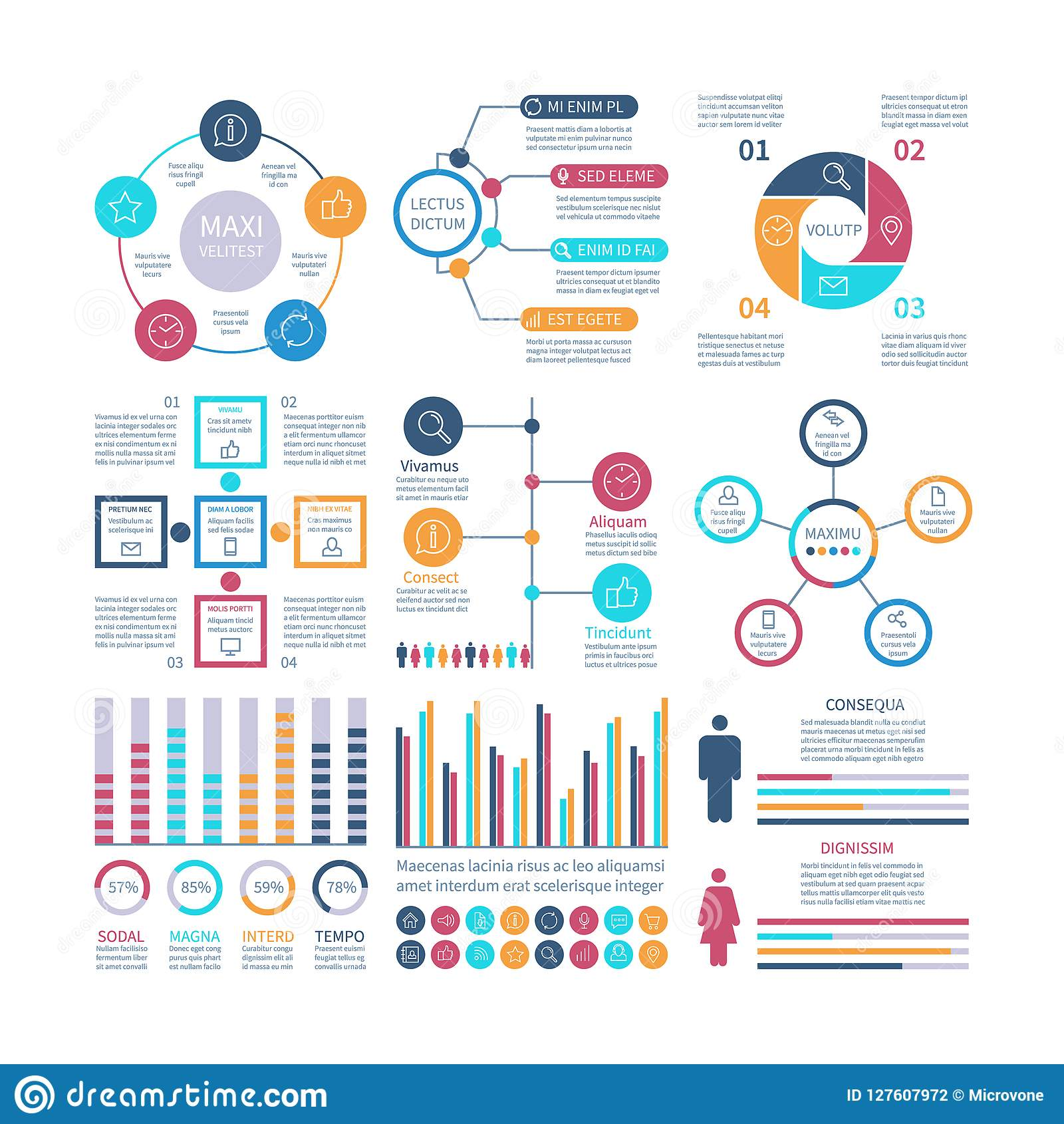 Infographic Elements Modern Infochart Marketing Chart