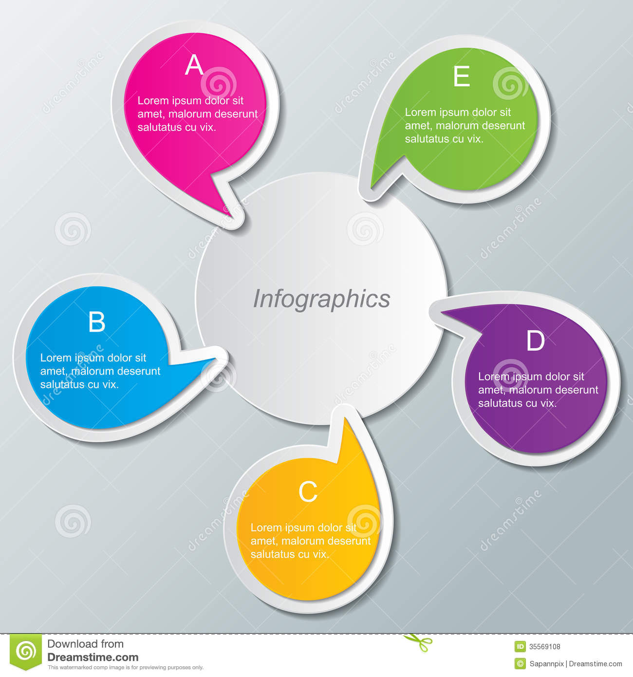 Infographics Free Templates. round infographic elements vector ...