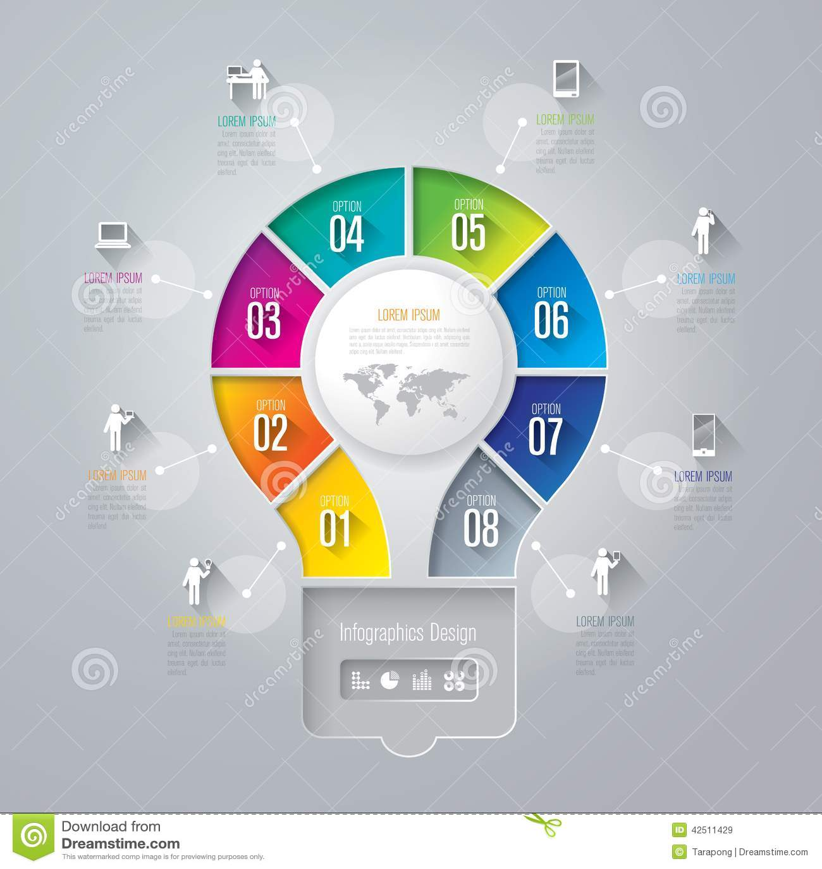 Infographics Design Template Stock Vector Illustration