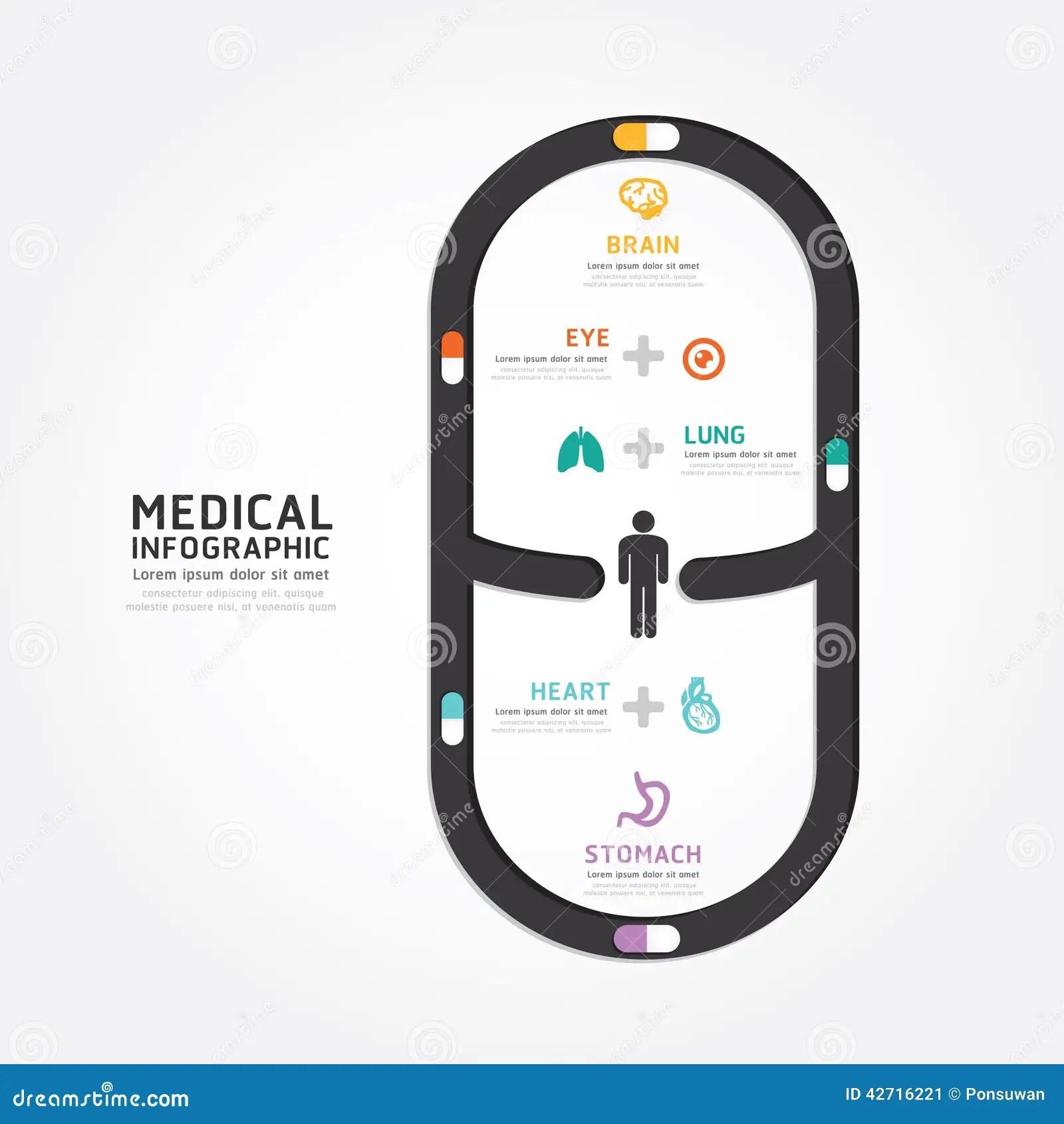 Medical Infographics Cartoon Vector