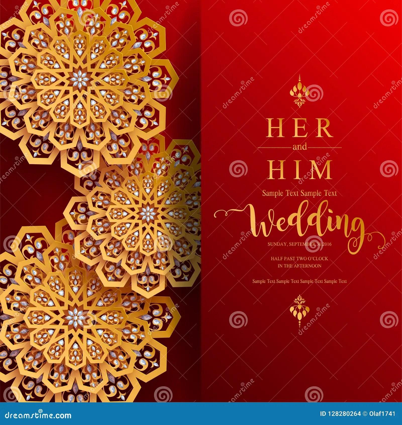 https www dreamstime com inindian wedding invitation carddian wedding invitation card templates gold patterned crystals paper color background image128280264