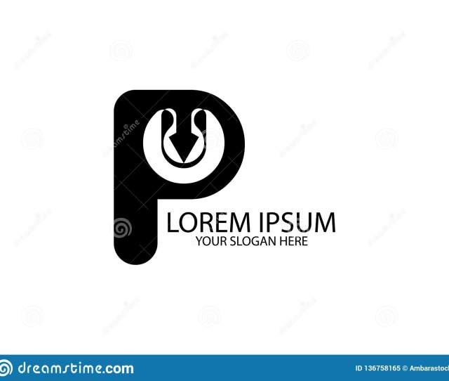 Initial Letter P Play Button Design Logo Graphic Branding Letter Element