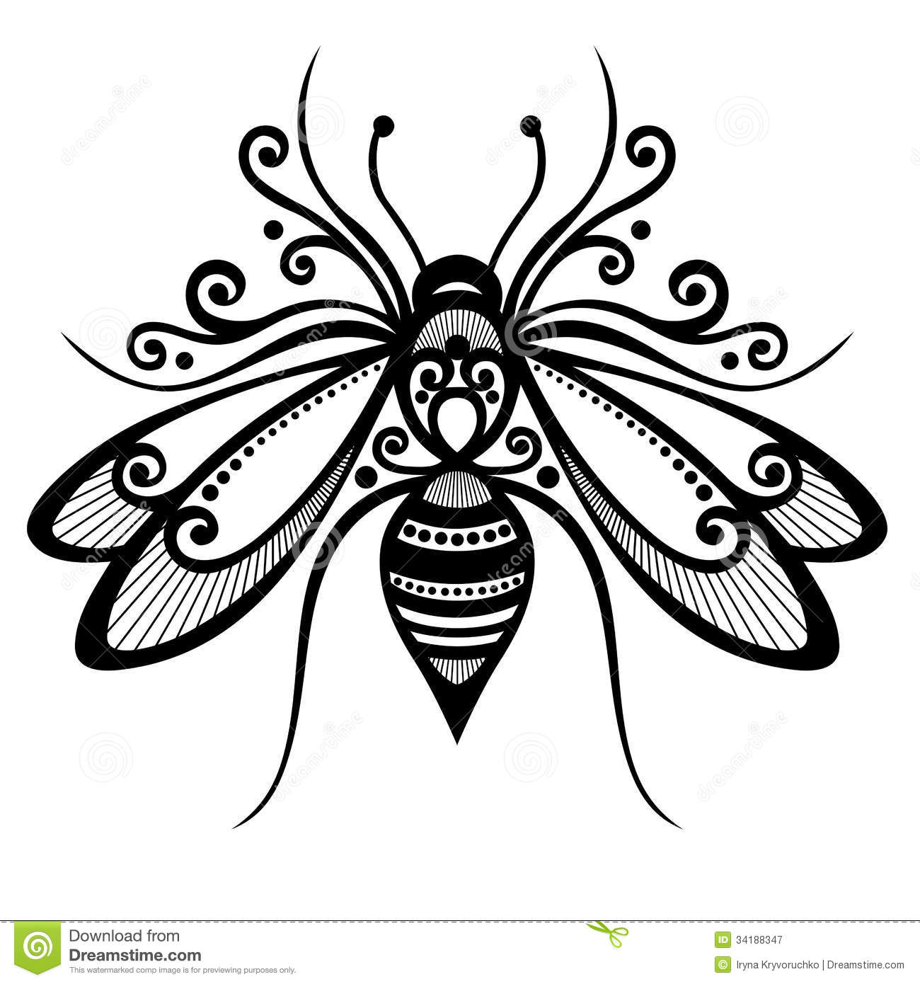 Insect Bee Stock Vector Illustration Of Scroll Icons