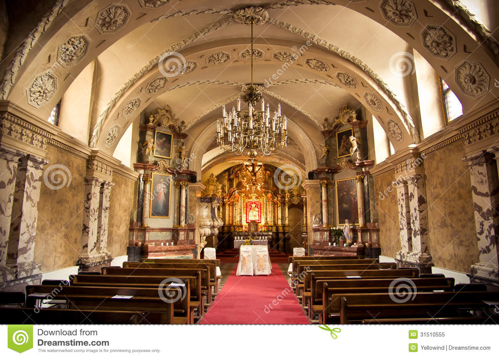 Inside Of A Church Stock Image Image Of Aisle Landmark