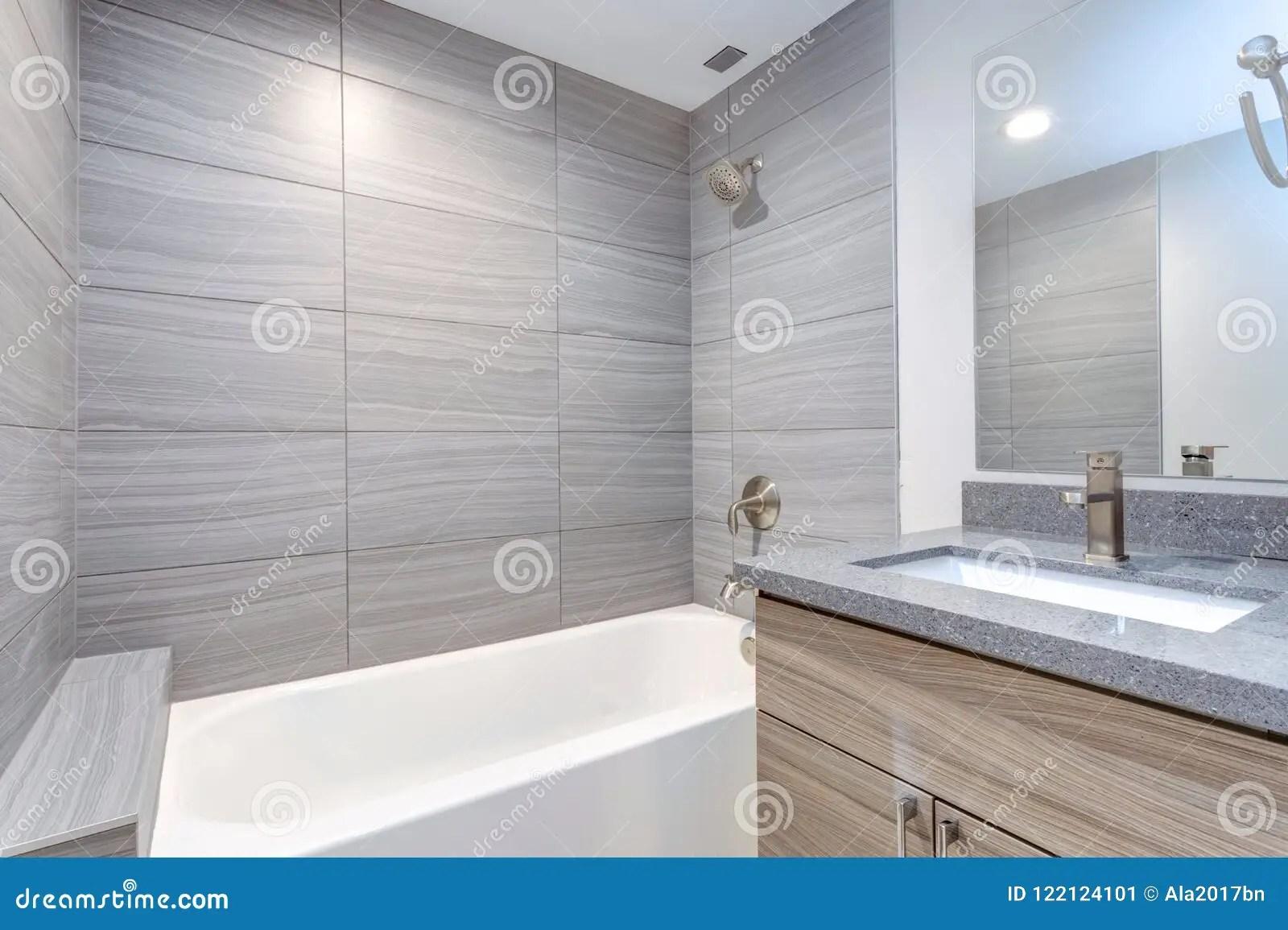 bains moderne grise image stock