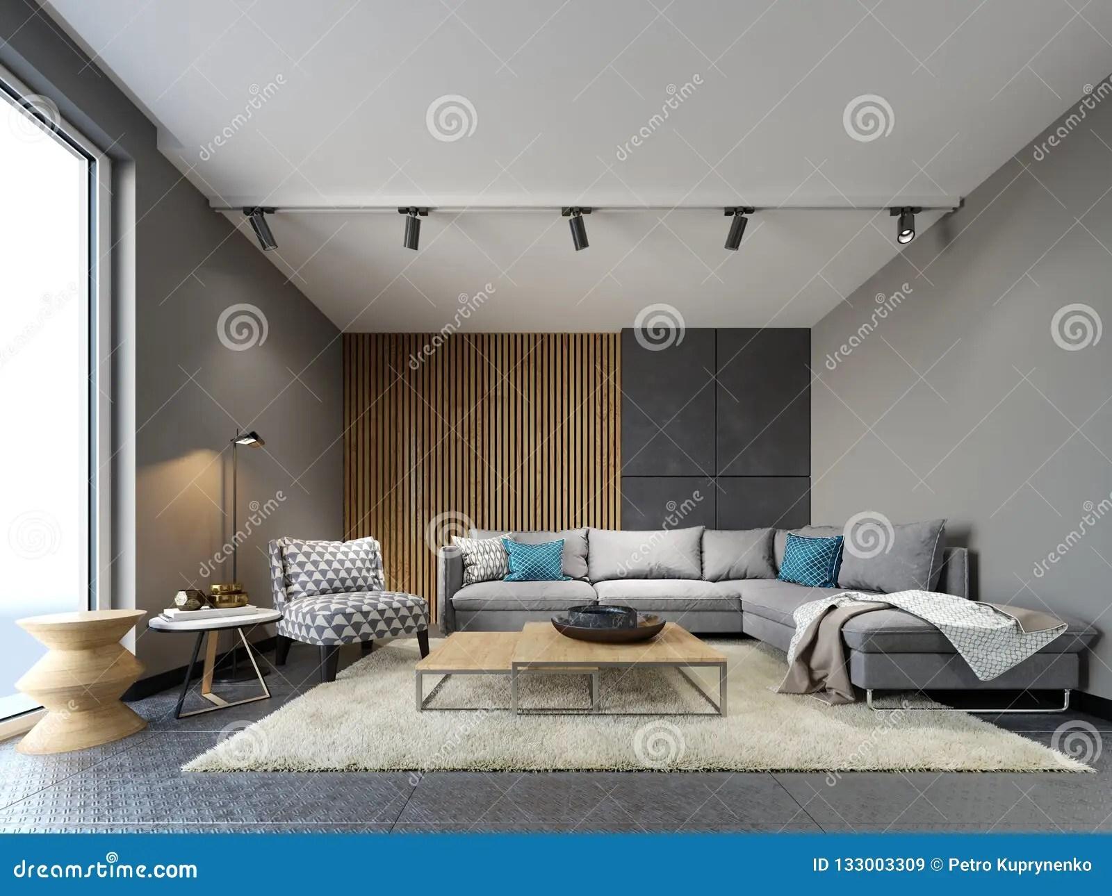interieur moderne de grenier de salon