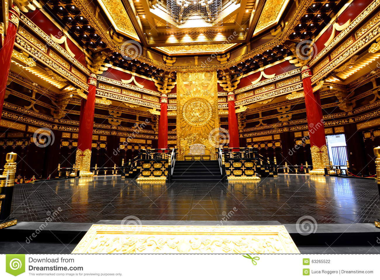 Buddhist Temple Interior