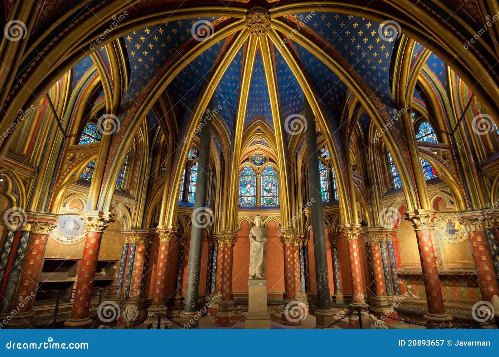 Interior Of Sainte Chapelle Paris France Royalty Free