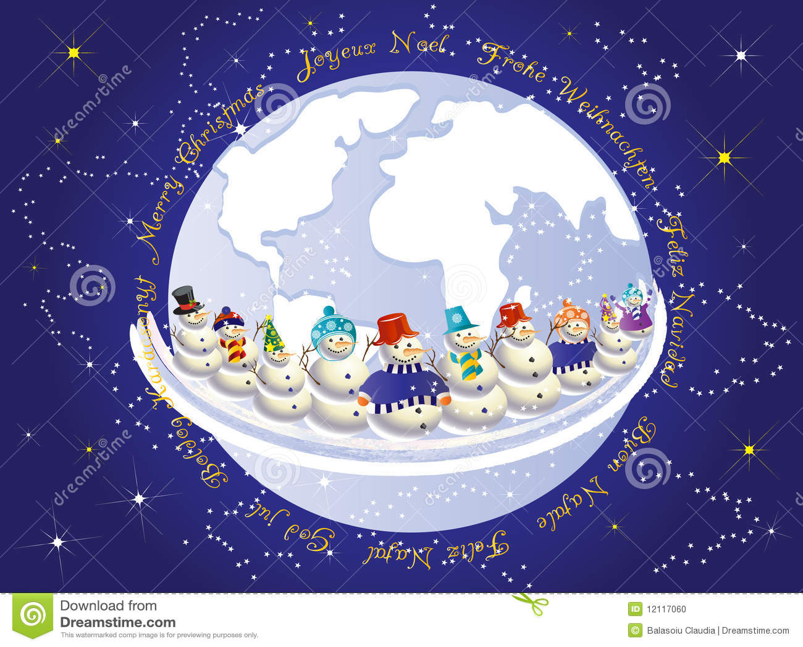 International Christmas Stock Vector Illustration Of