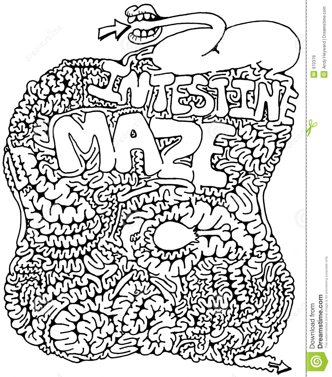 Intestine Maze Stock Illustration Illustration Of Guts