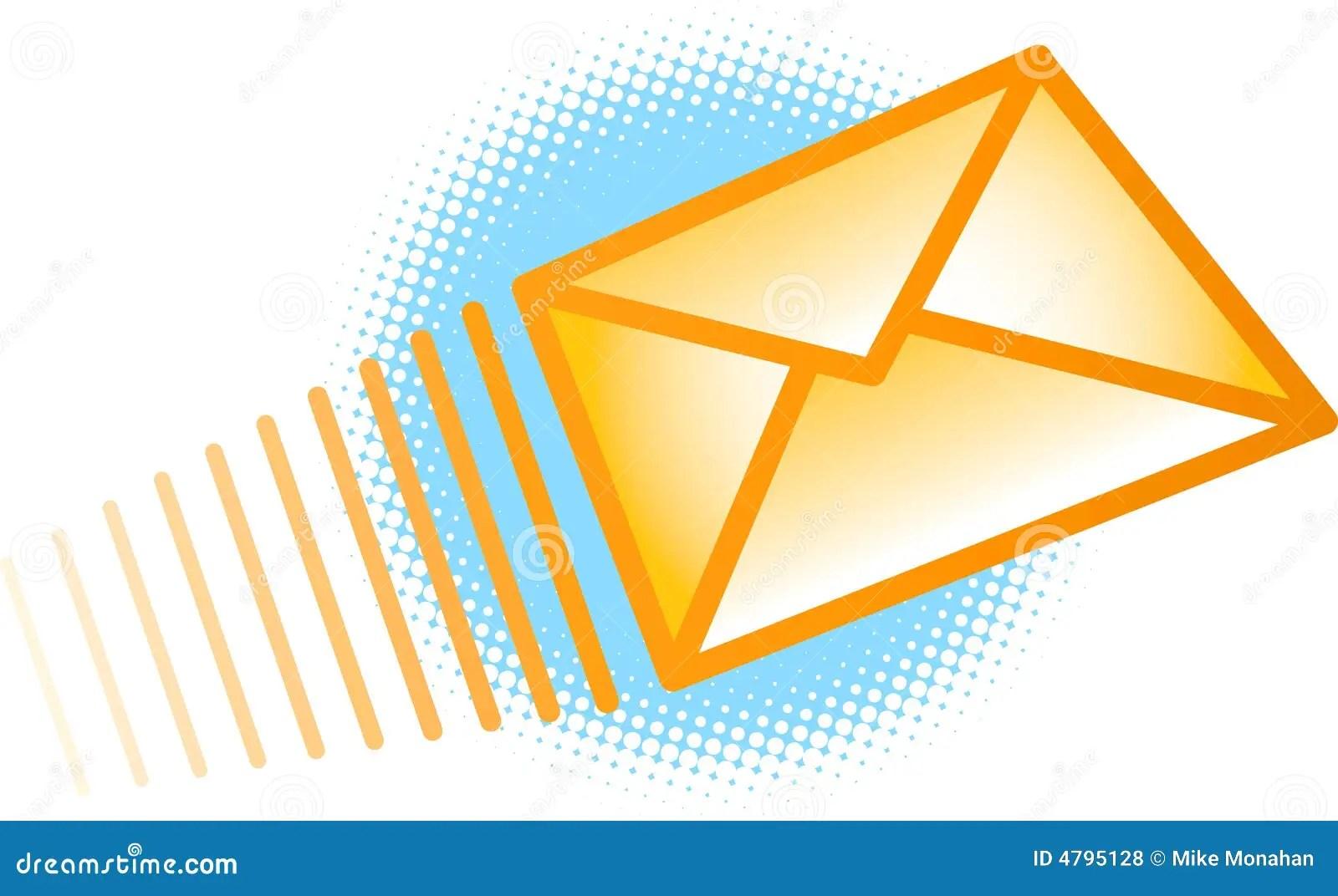 Invio Della Busta Del Email Fotografie Stock Libere Da
