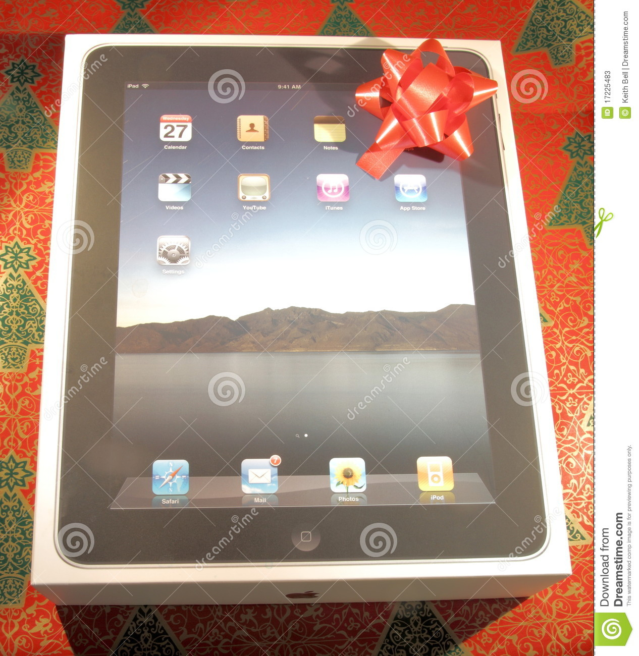 IPad In Box With A Holiday Gift Bow Editorial Stock Photo