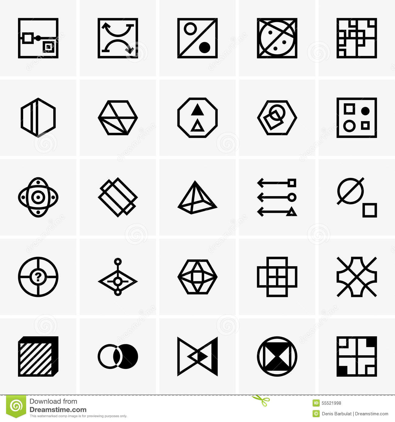 Iq Test Icons Stock Vector Illustration Of Vector Puzzle