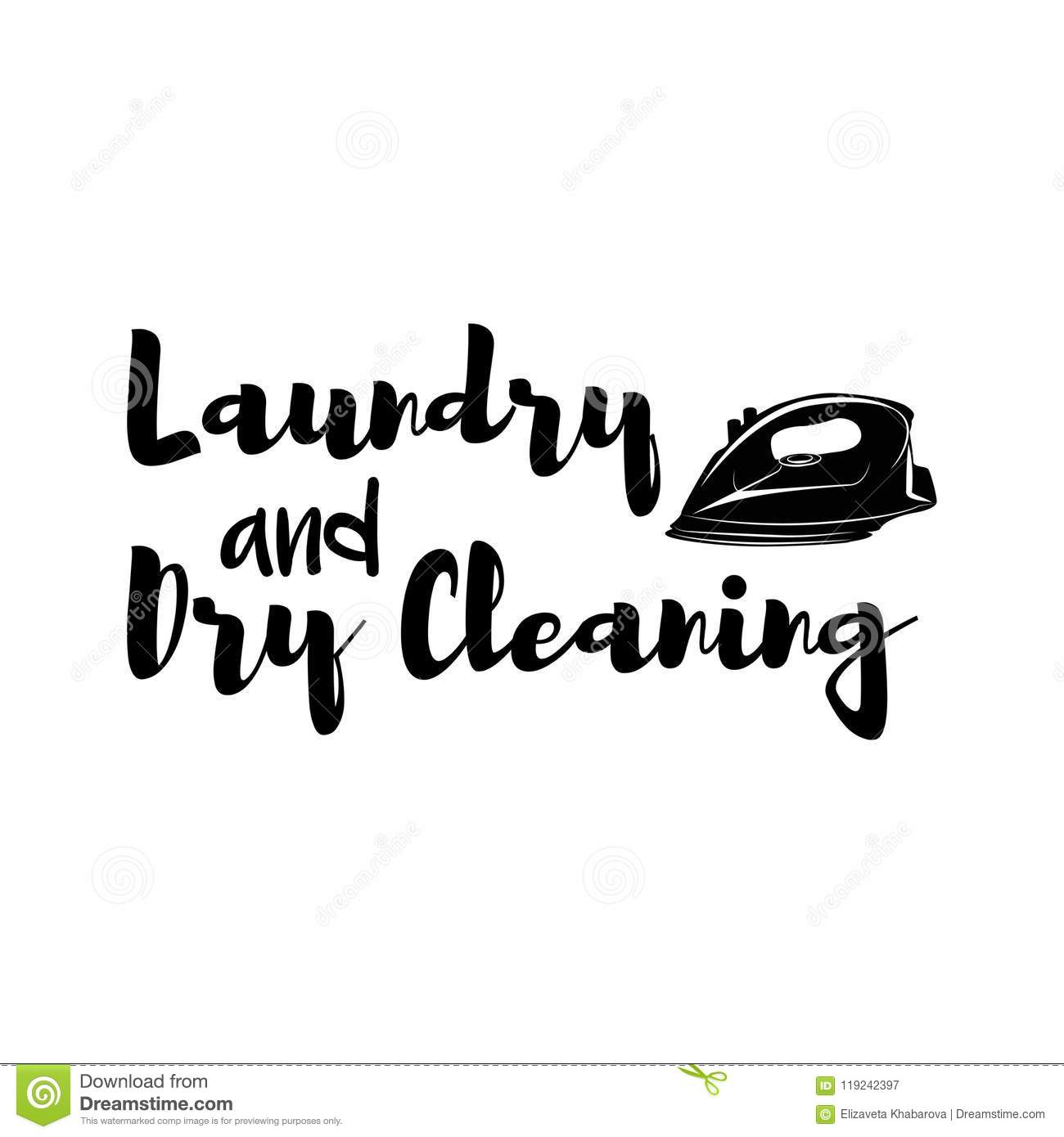 Iron Icon Laundry Logo Dry Cleaning Label Design