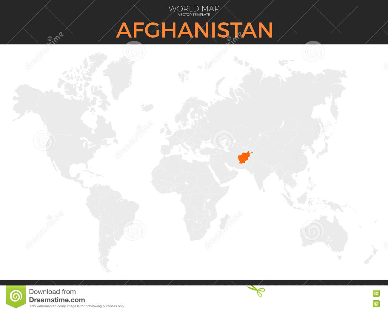 Islamic Republic Of Afghanistan Location Map Stock Vector