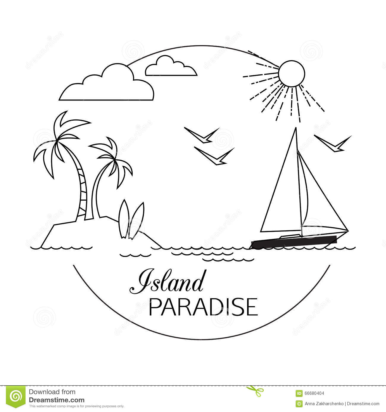 Island Paradise Beach And Water Travel And Tourism