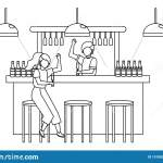Isolated Room Of A Bar Design Stock Vector Illustration Of Drink Table 151583298
