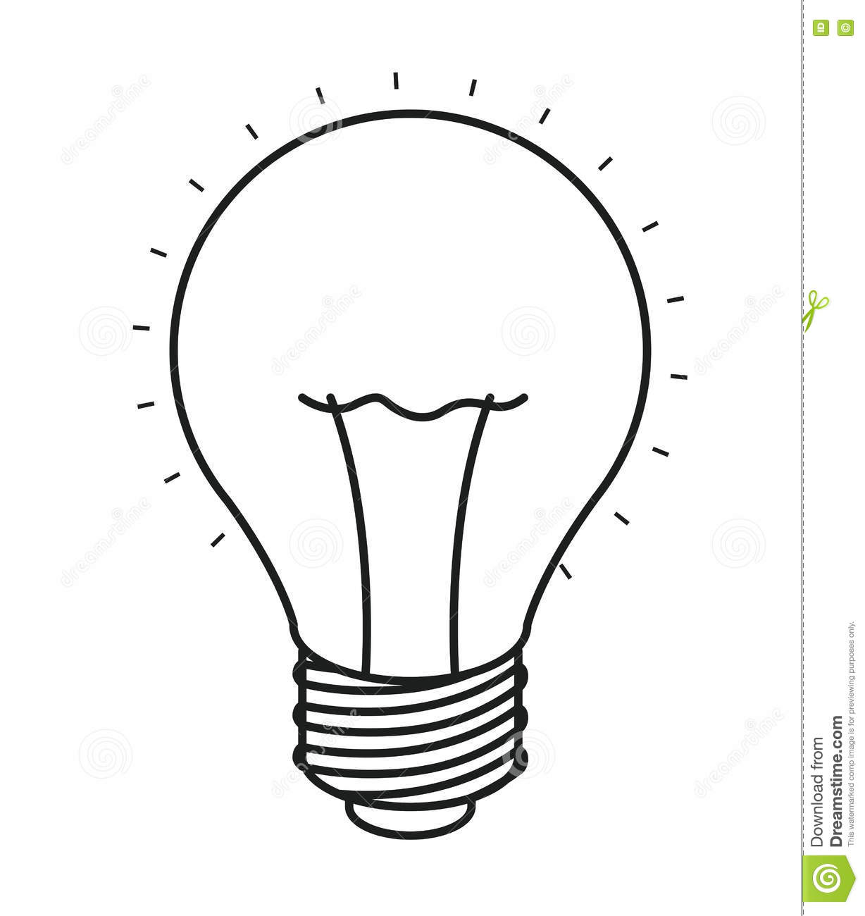 Isolated And Silhouette Light Bulb Design Stock Vector