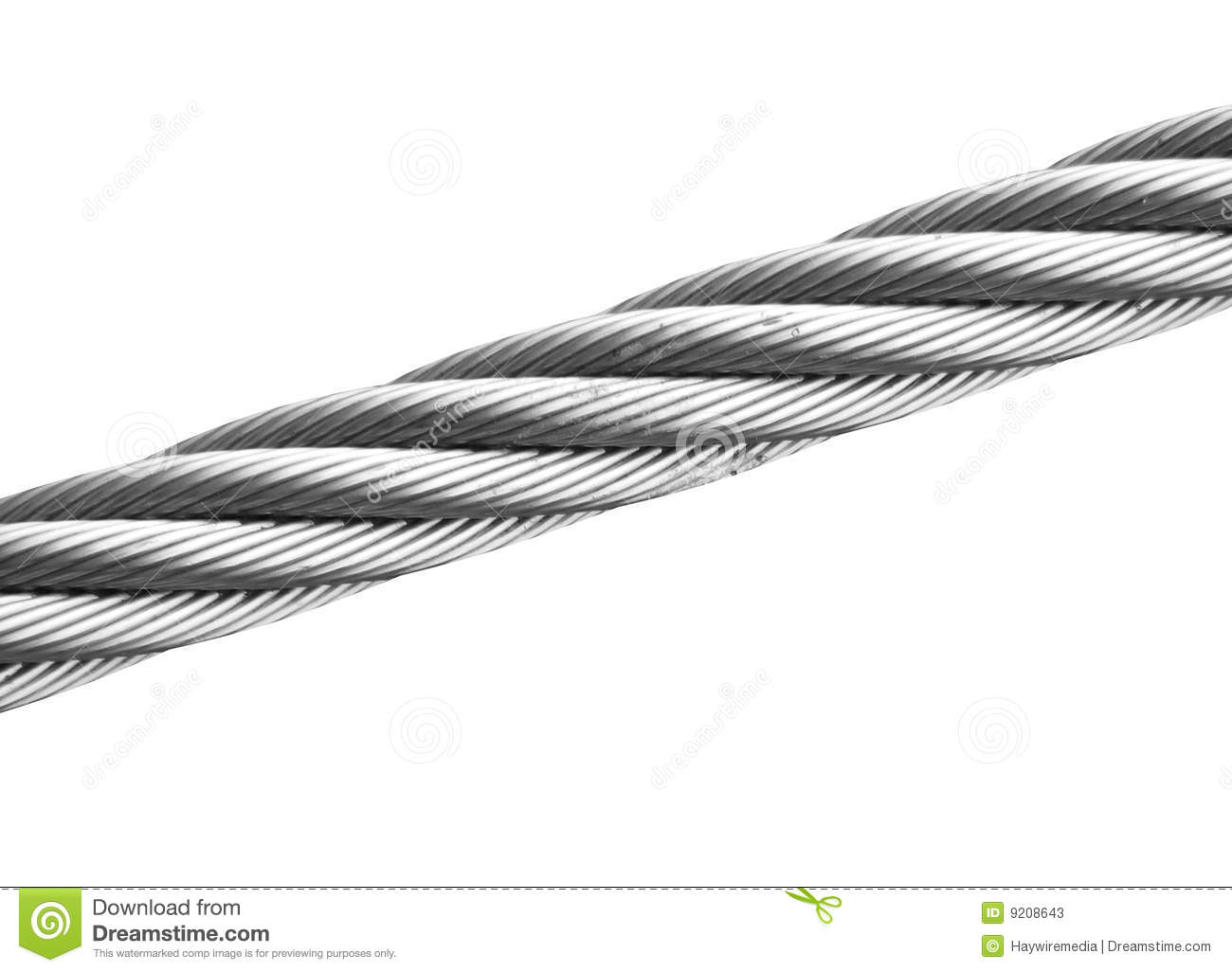 Isolated Wire Cable Stock Image Image Of Blank Barb