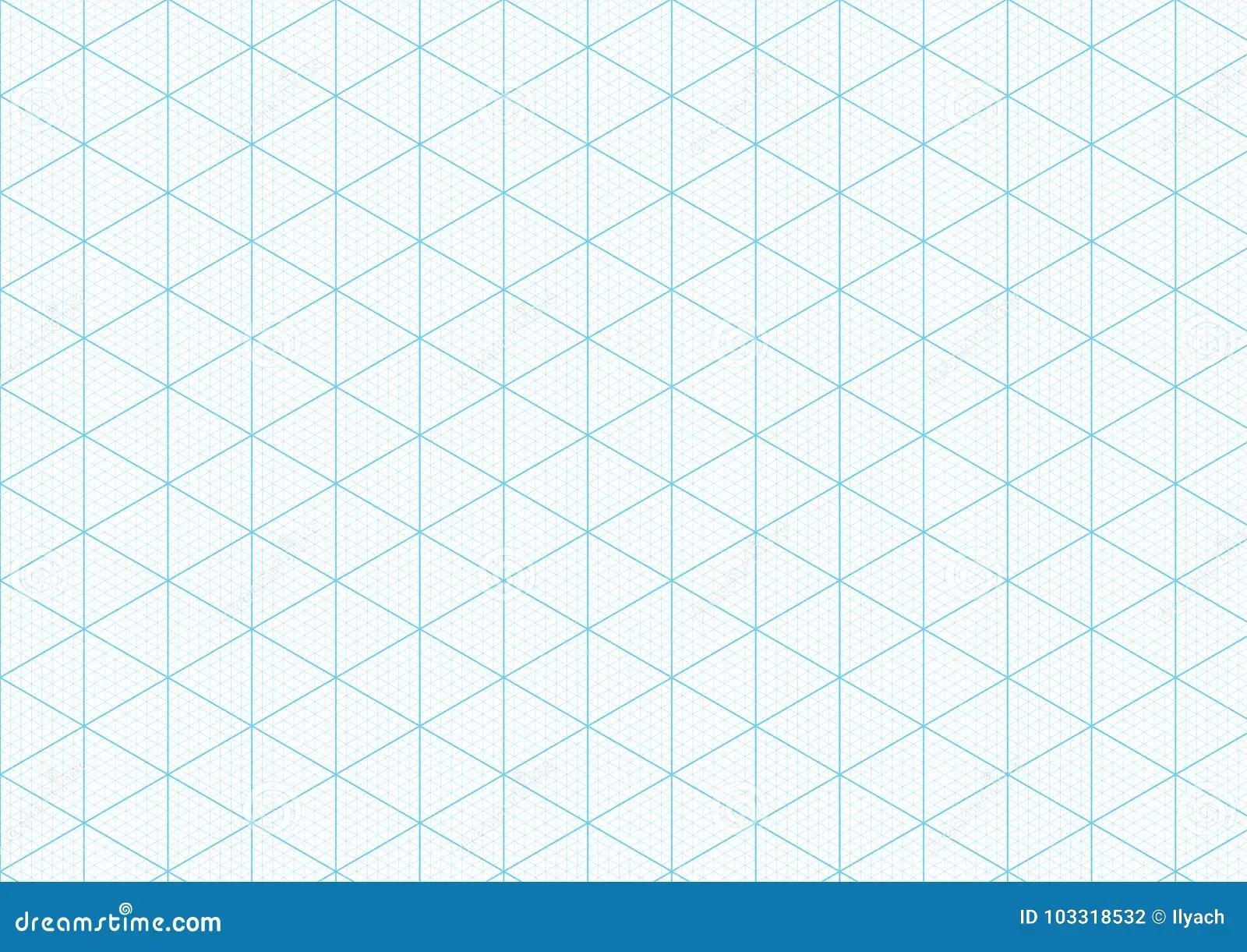 Isometric Graph Paper Background Plotting Triangular