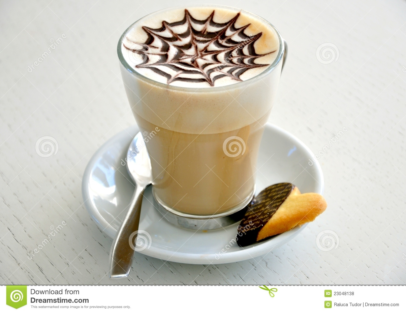 Italian Cappuccino And Cookie Breakfast Royalty Free Stock