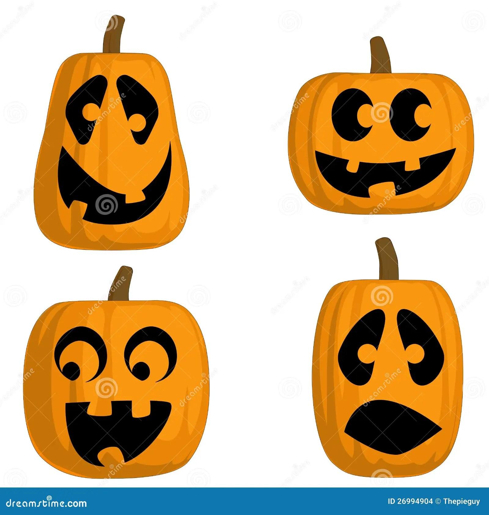 Jack O Lanterns Silly Stock Vector Illustration Of