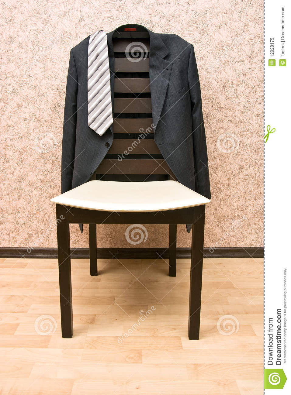 Jacket And Chair Stock Image Image Of Brown Grey