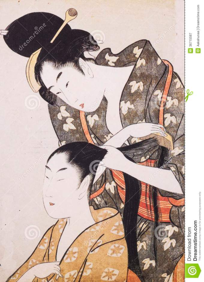 japan's traditional costume stock image - image of paper