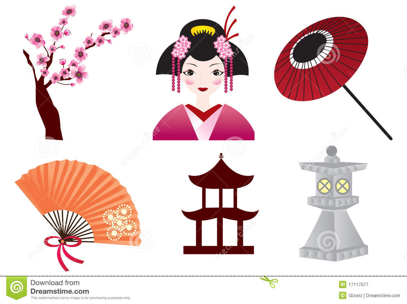 Japanese Culture Stock Vector Illustration Of Pink