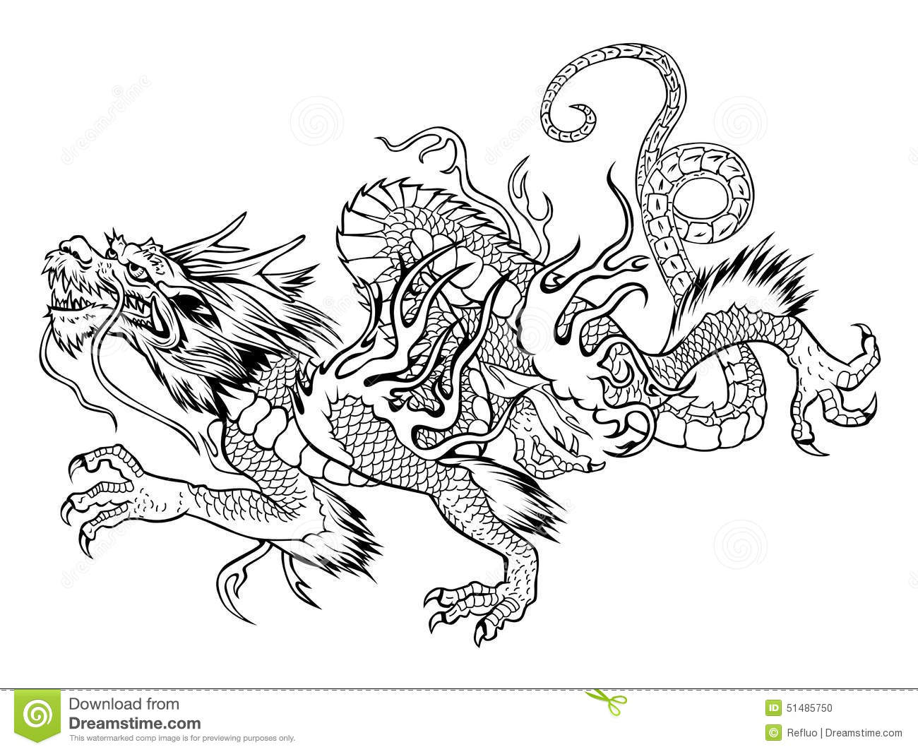 Japanese Dragon Stock Vector Illustration Of Strong