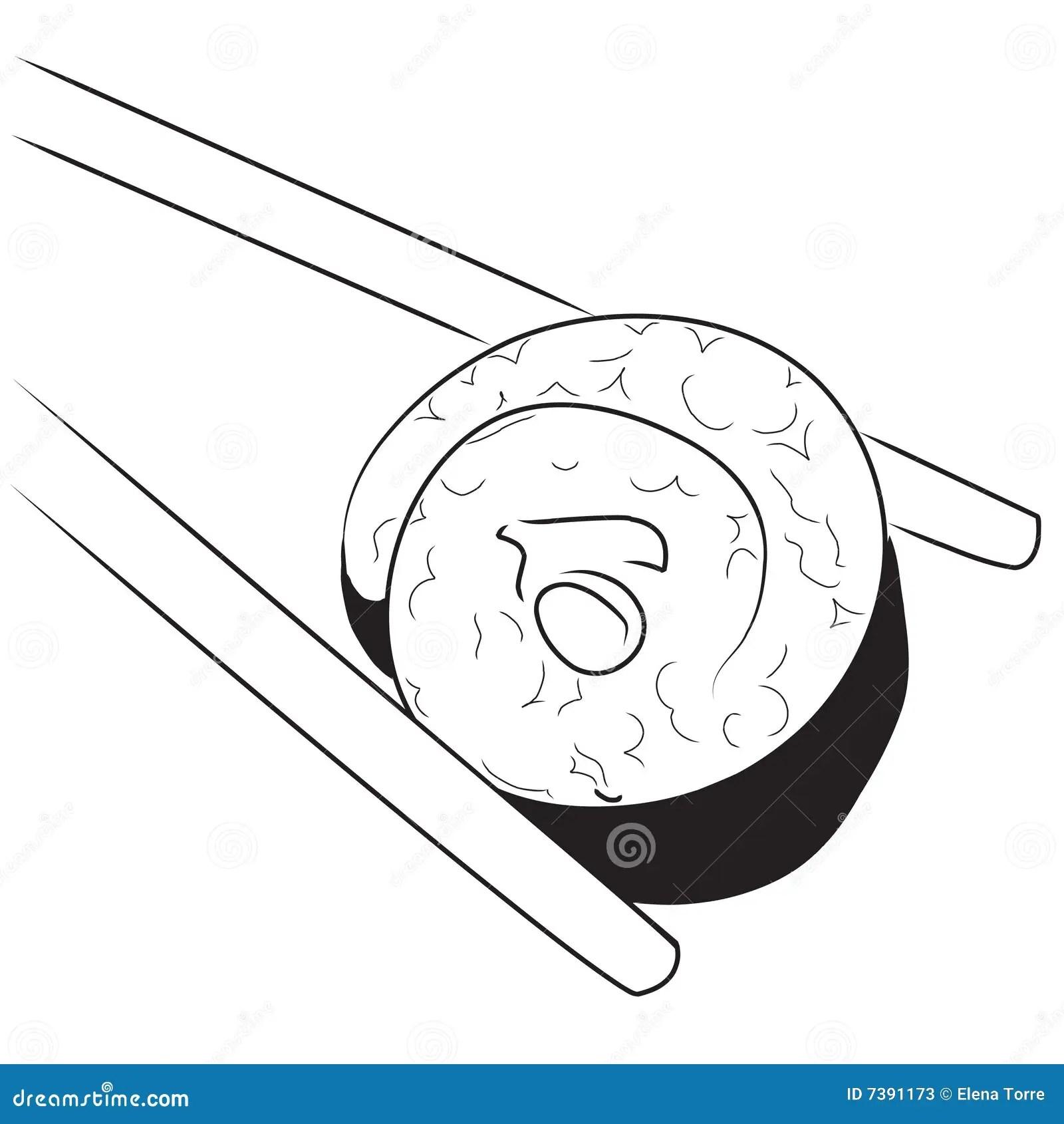 Japanese Sushi Stock Illustration Illustration Of