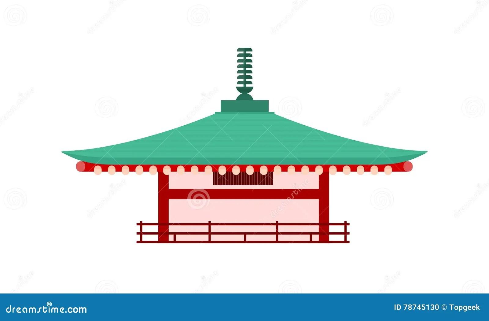 Japanese Pagoda Drawings Asian Temple Set Vector Black And
