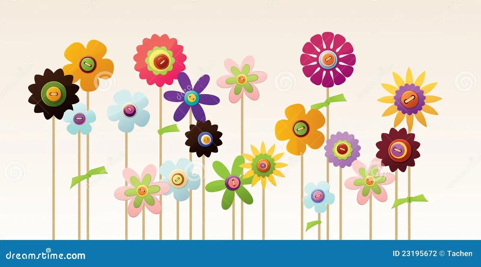 Jardin De Fleur Illustration De Vecteur. Illustration Du