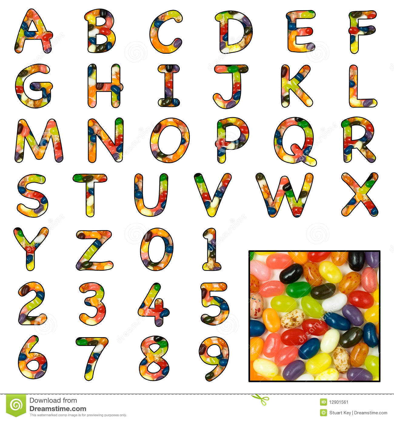 Beautiful Alphabets Numbers