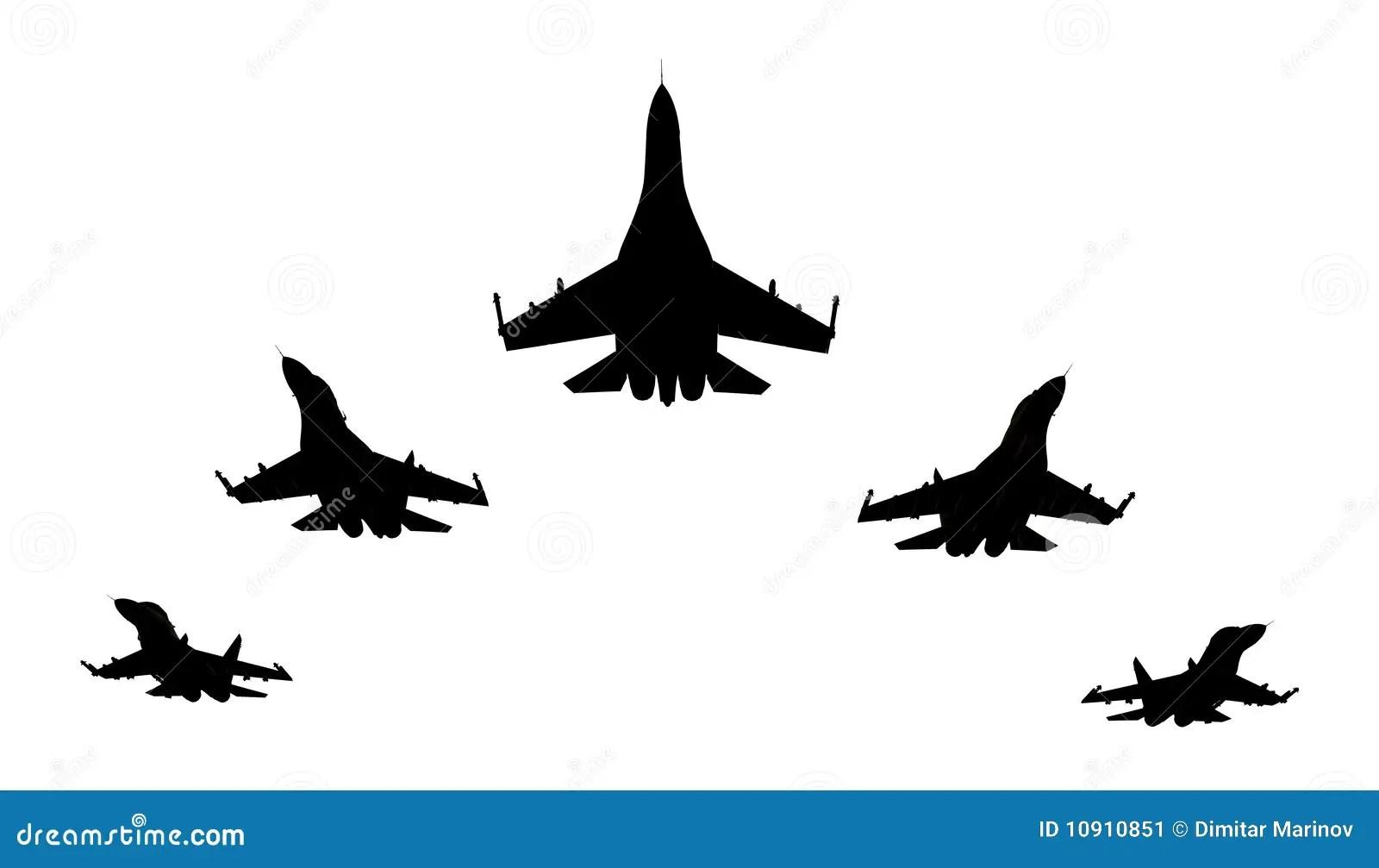 Jet Fighters Stock Illustration Illustration Of Flight