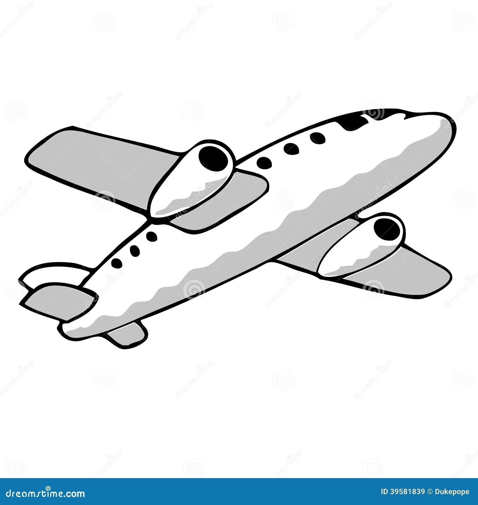 Jet Plane Stock Illustration Illustration Of Clip
