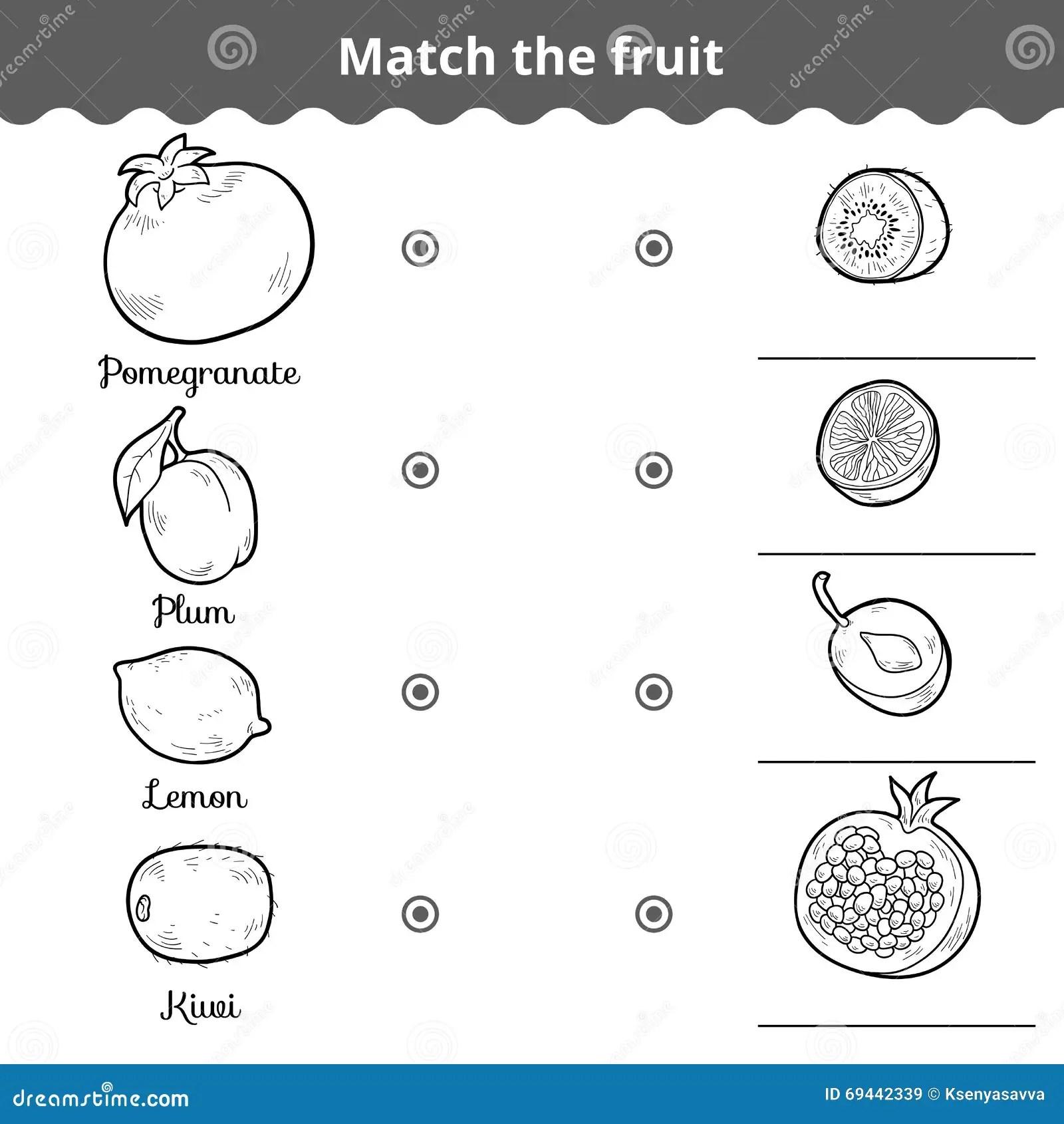 Jeu D Assortiment Pour Des Enfants Assortissez Les Fruits
