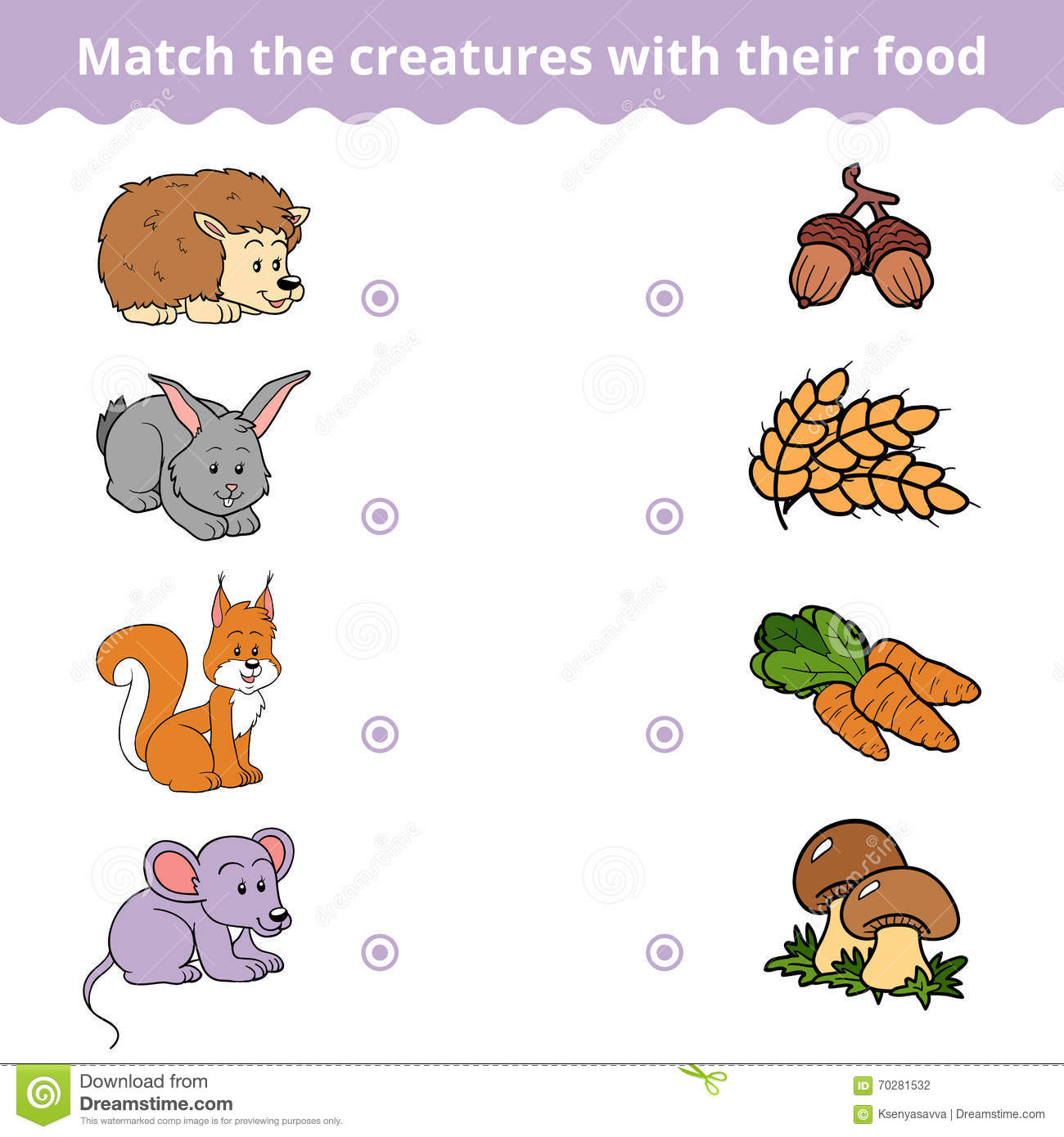 Animals And Food Worksheet