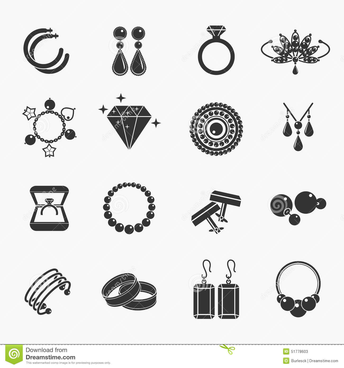 Jewelry Icons Stock Vector Illustration Of Hook Fashion