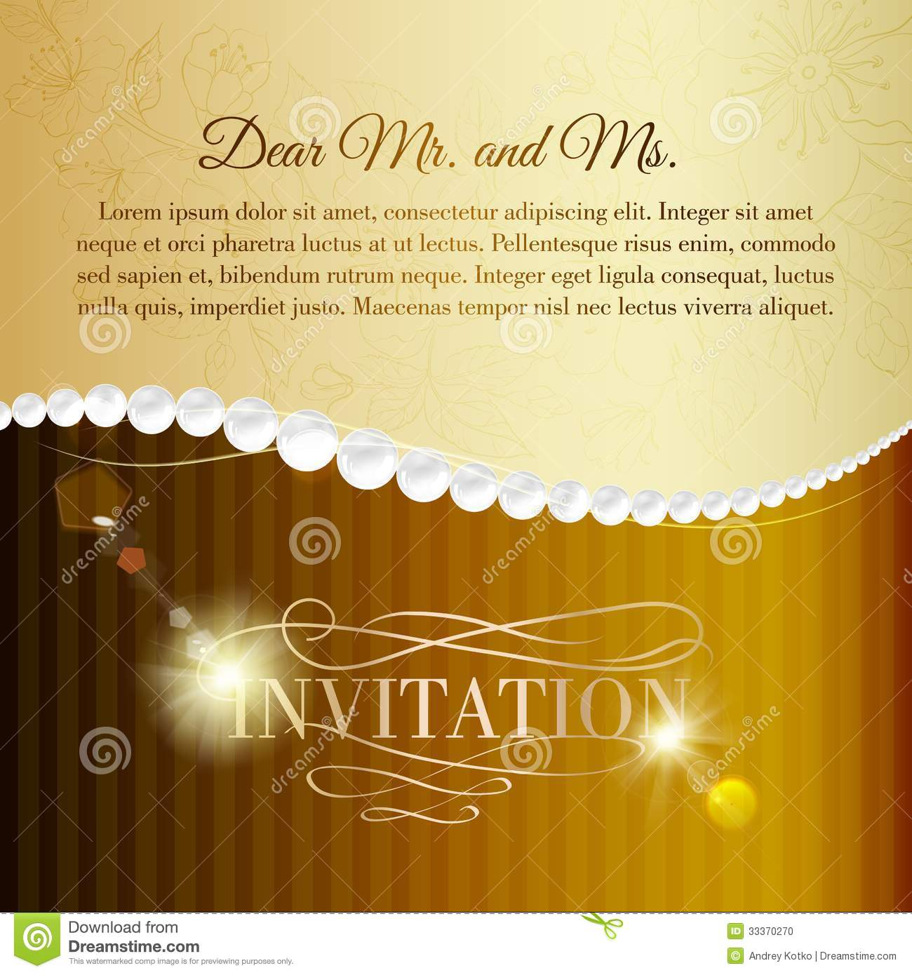 Jewelry Invitation Card Stock Photo Image 33370270