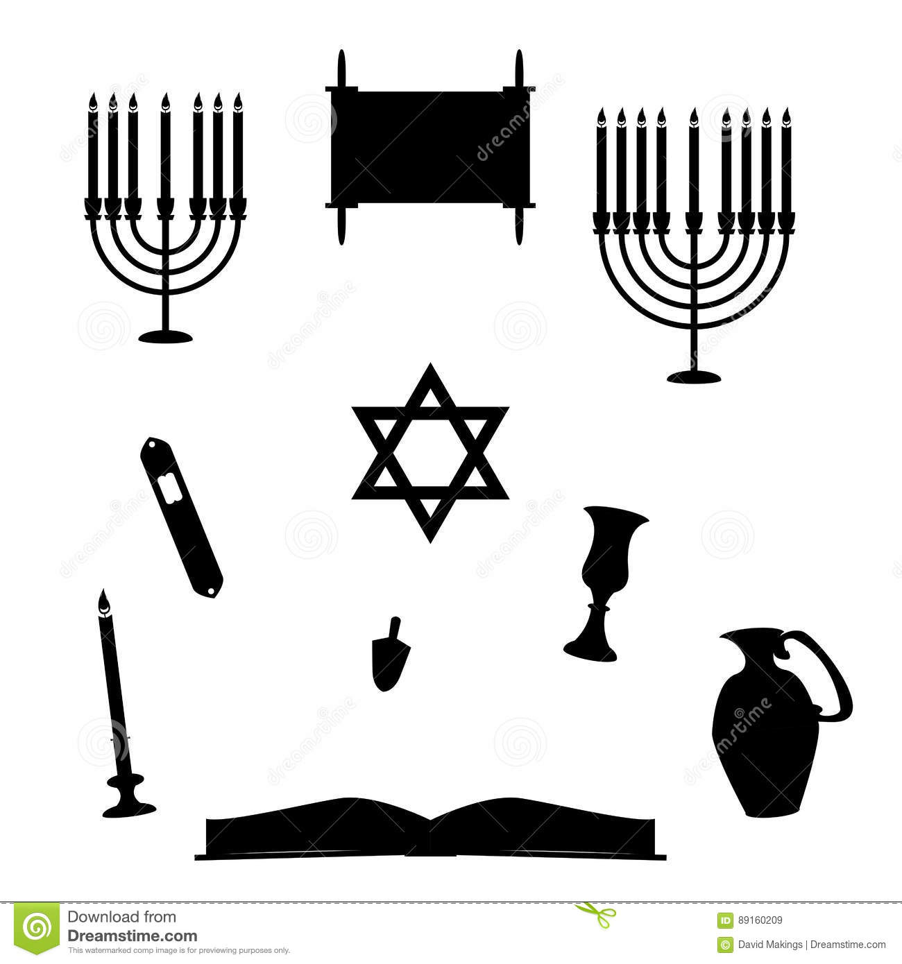 Hanukkiah Cartoons Illustrations Amp Vector Stock Images