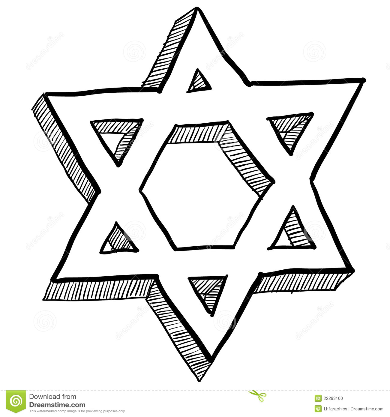 Jewish Star Of David Illustration Stock Vector